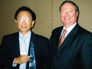 P.C. Wu with INDA president Rory Holmes