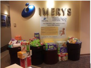 Imerys raises diaper need awareness with Mother's Day diaper drive
