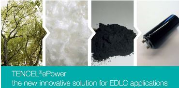 TENCEL®ePower – the innovative sustainable solution for EDLC applications